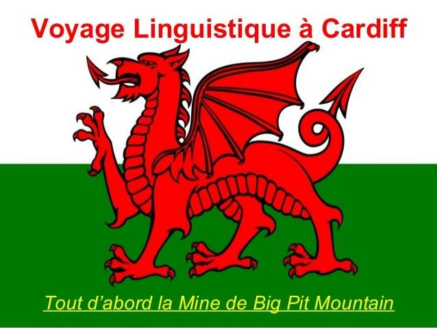 Voyage Linguistique à Cardiff Tout d'abord la Mine de Big Pit Mountain