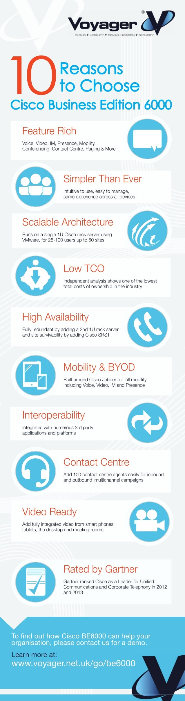 Voyager Networks Infographic 10 Reasons To Choose Cisco