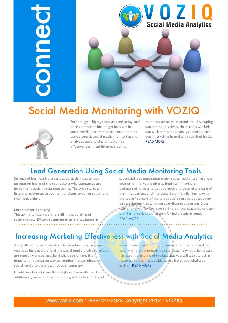 connect               Social Media Monitoring with VOZIQ                                                              Tech...