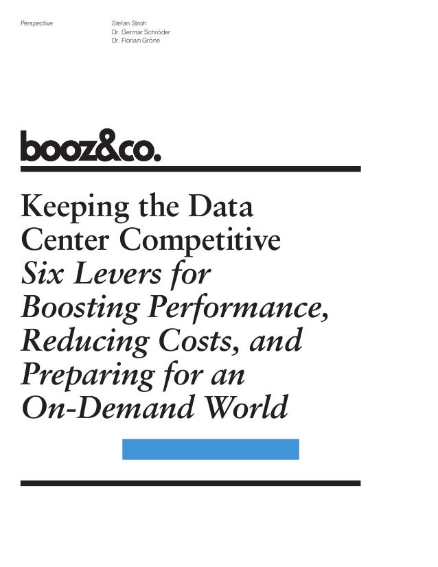 Keeping the Data Center Competitive