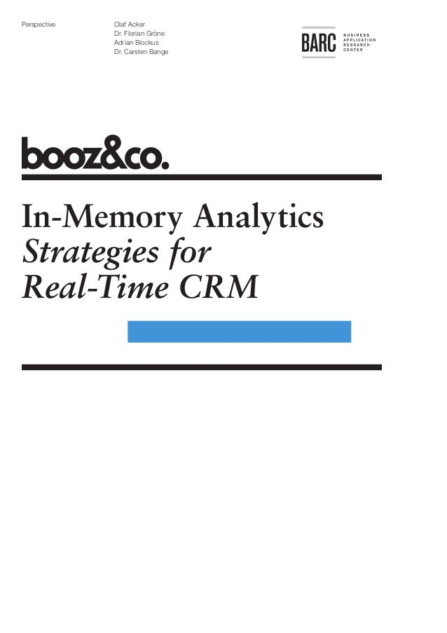 In-Memory Analytics: Strategies for Real-Time CRM