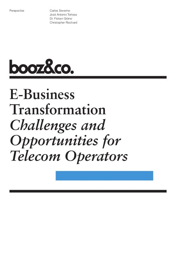 E-Business Transformation: Challenges and Opportunities for Telecom Operators