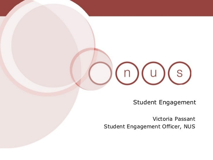 Victoria Passant Student Engagement Officer, NUS Student Engagement