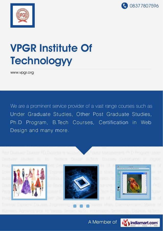 Vpgr institute-of-technologyy