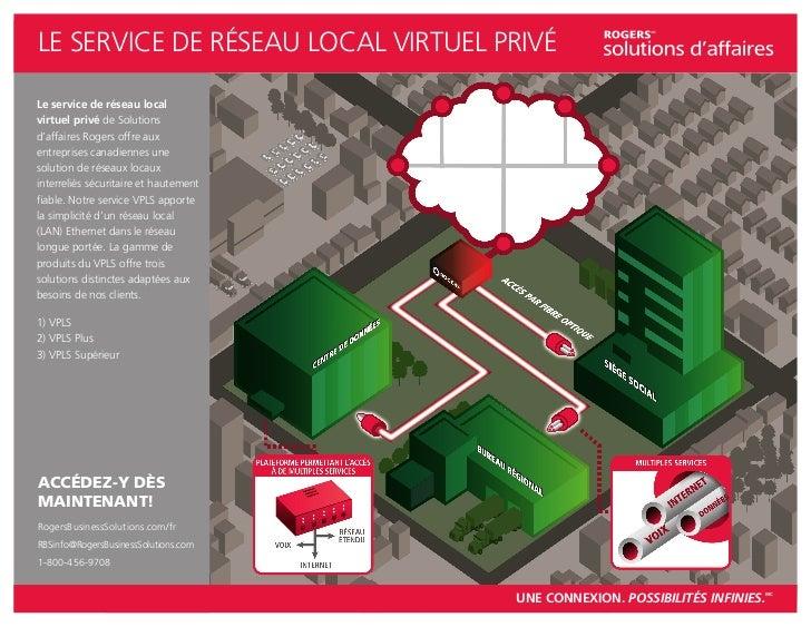LE SERVICE DE RÉSEAU LOCAL VIRTUEL PRIVÉLe service de réseau localvirtuel privé de Solutionsd'affaires Rogers offre auxent...