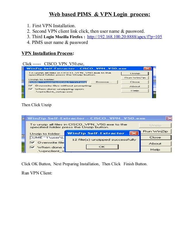 Vpn client installation document