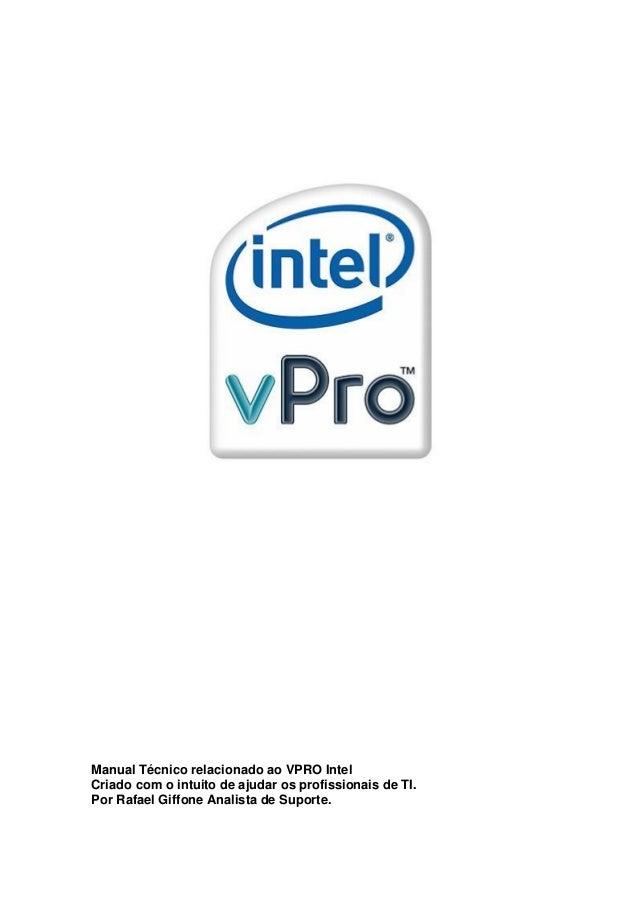 Configurando o Intel VPRO