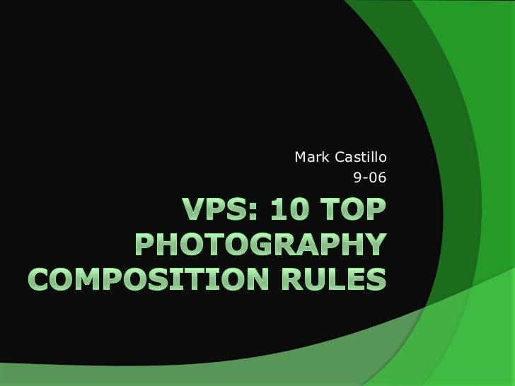 Mark Castillo       9-06