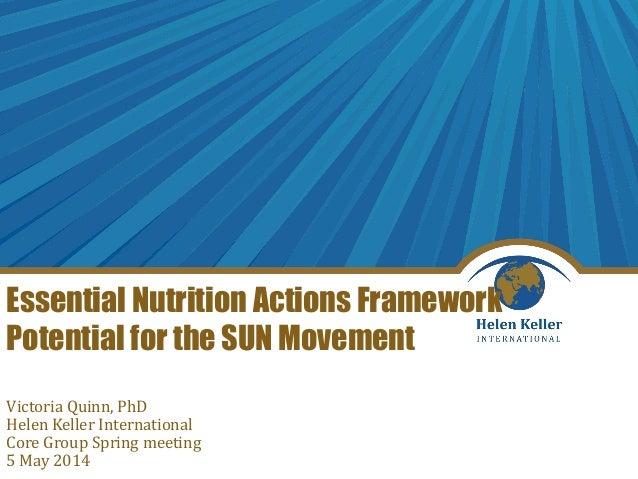 Understanding the Essential Nutrition Actions Framework_Victoria Quinn_5.5.14