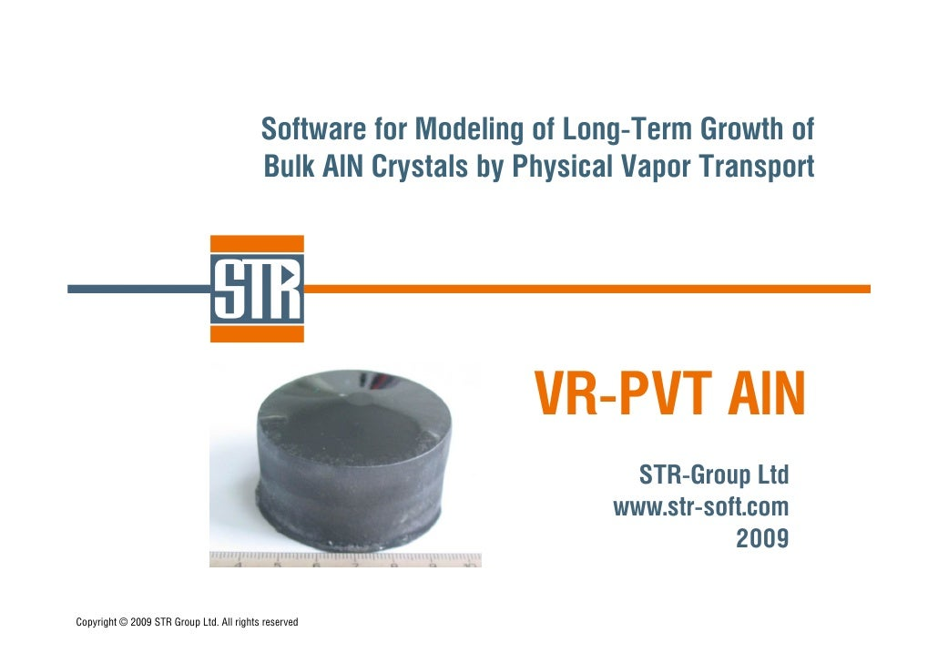 Modeling of PVT of AlN with Virtual Reactor