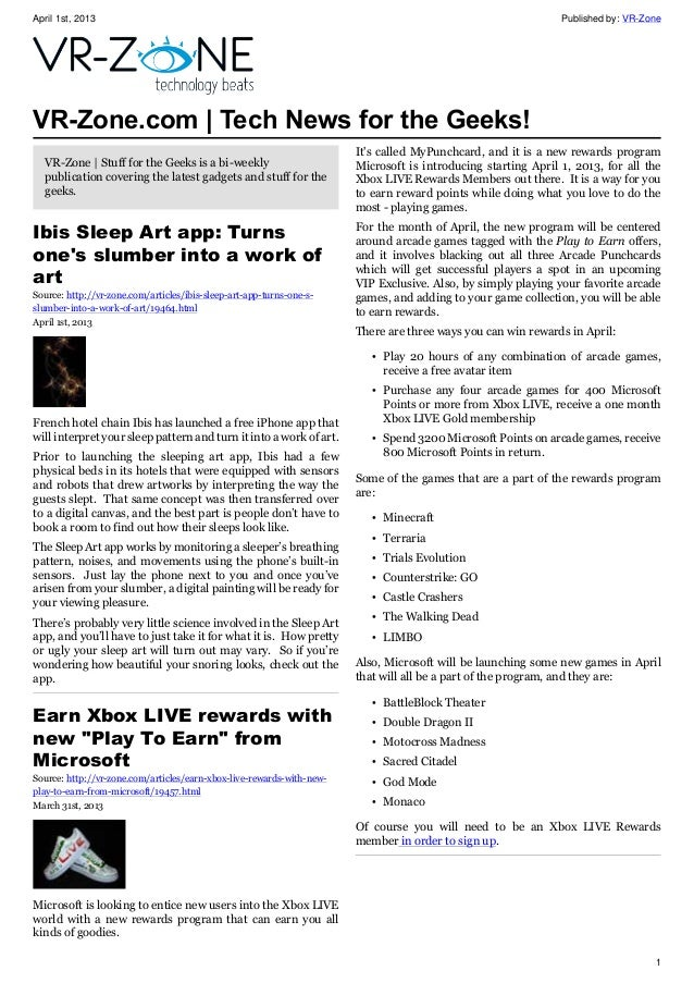 VR-Zone Tech News for the Geeks Apr 2013 Issue
