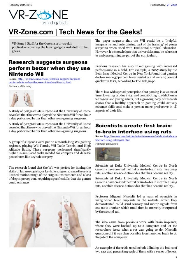 VR-Zone Tech News for the Geeks Mar 2013 Issue