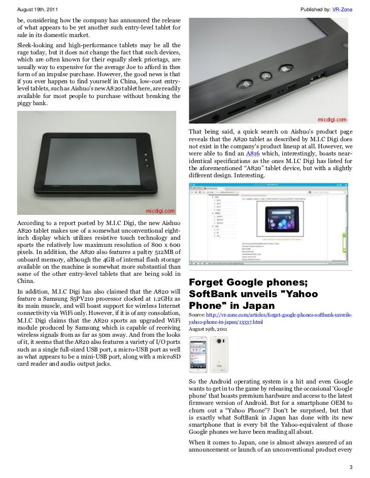 VR-Zone Tech News for the Geeks Aug 2011 Issue 2