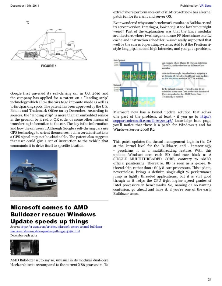 VR-Zone Tech News for the Geeks Dec 2011 Issue 2