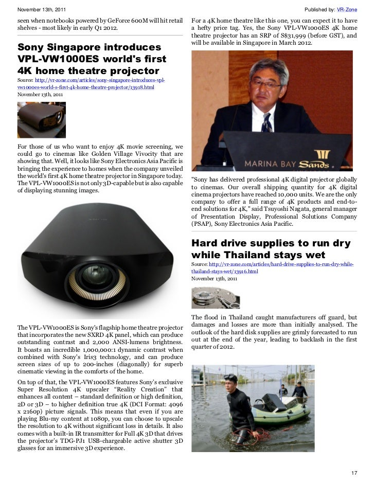VR-Zone Tech News for the Geeks Nov 2011 Issue 2