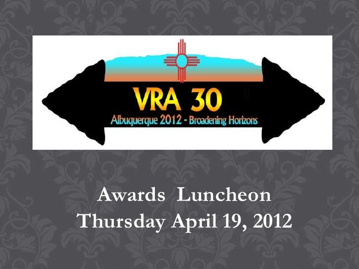 Visual Resources Association 2012 Awards