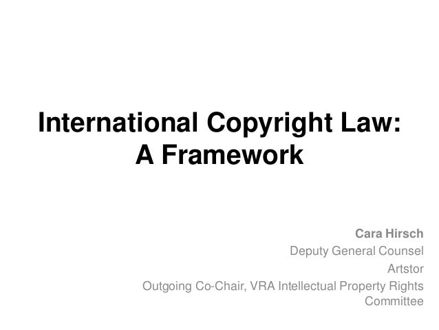 VRA 2014 Case Studies in International Copyright, Hirsch