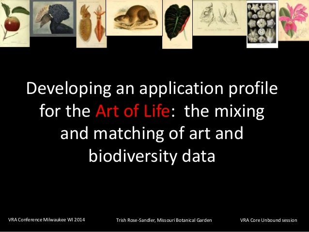 Developing an application profile for the Art of Life:  the mixing and matching of art and biodiversity data