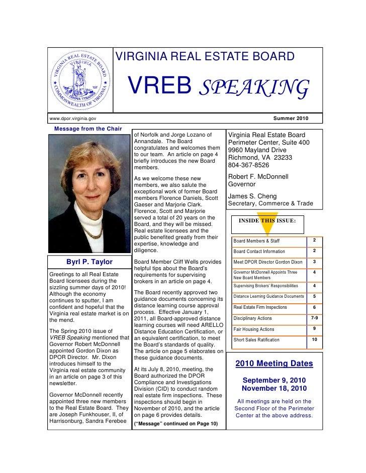 VREB Speaking Summer 2010