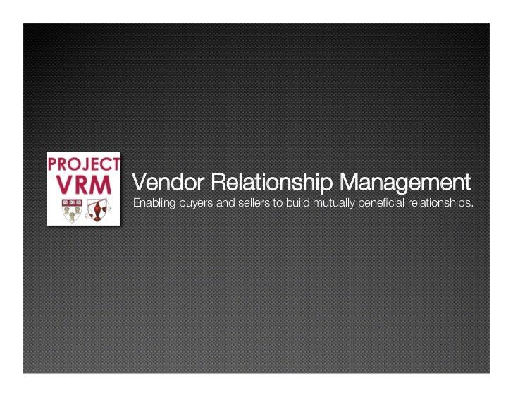 VRM Workshop Feb2008
