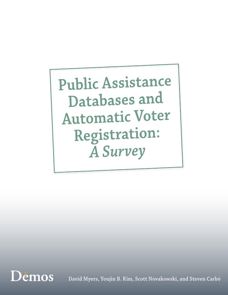 Public Assistance Databases and Automatic Voter Registration