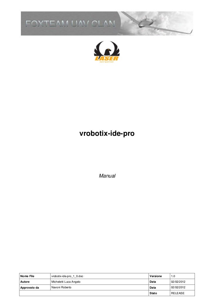 vrobotix-ide-pro                                          ManualNome File      vrobotix-ide-pro_1_0.doc                Ver...