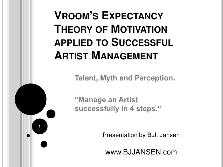 vroom s expectancy theory example of motivation theories Read this essay on vroom's model of expectancy theory for example, if the manager is expectancy theorytheories of motivation: vroom's valence.