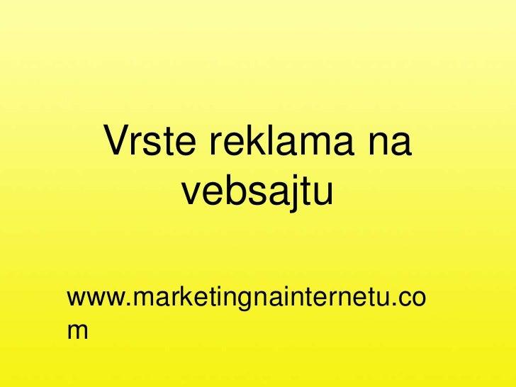Vrste reklama na internetu