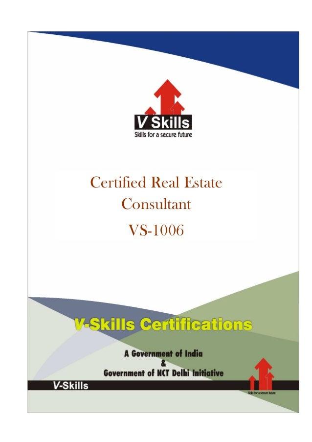 Certified Real EstateConsultantVS-1006