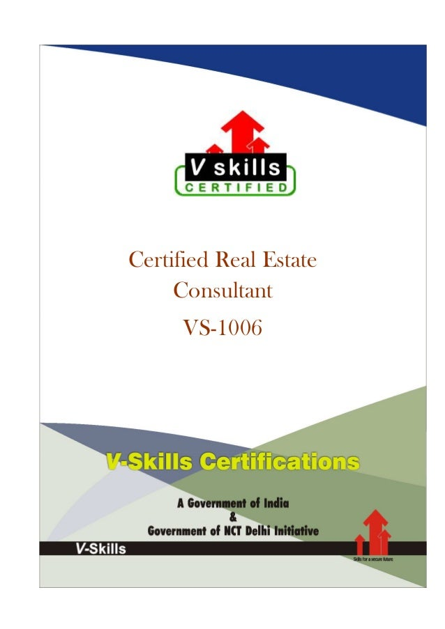 Certified Real Estate Consultant VS-1006