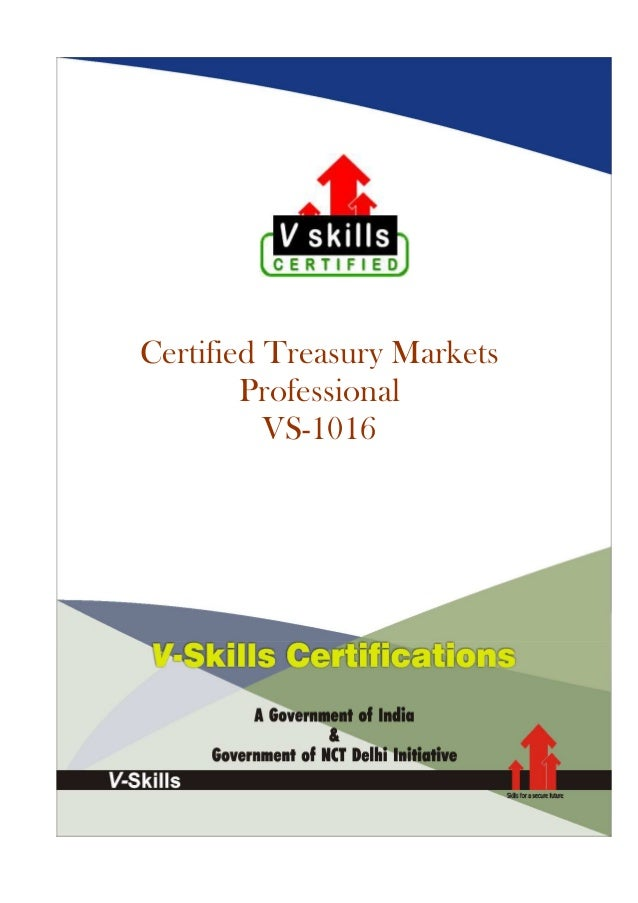 Certified Treasury Markets Professional VS-1016