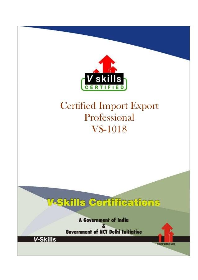 Certified Import Export Professional VS-1018