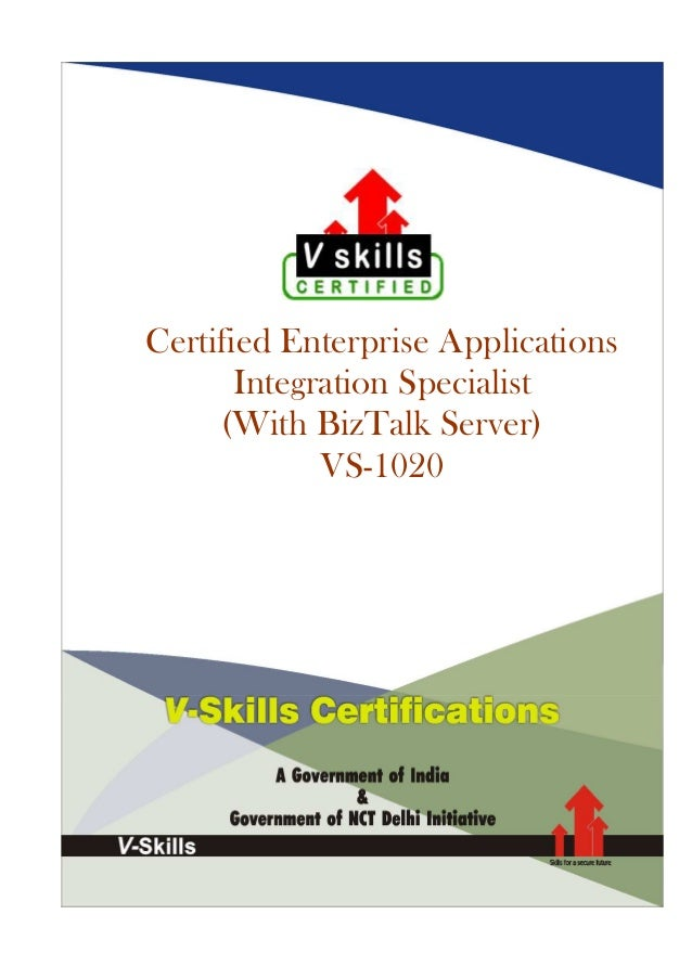 Certified Enterprise Applications Integration Specialist (With BizTalk Server) VS-1020