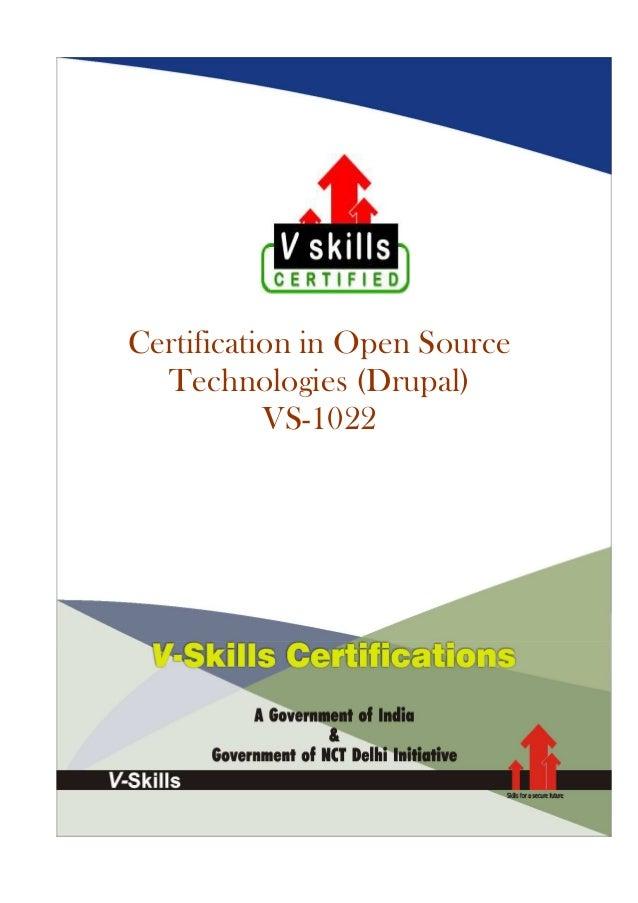 Open Source CMS Certification
