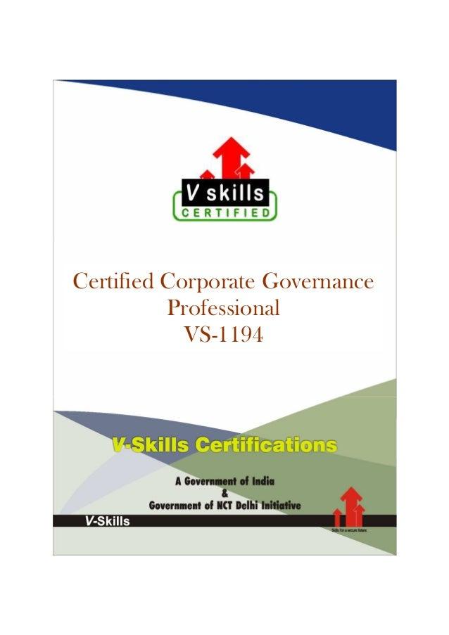 Vskills Certified Corporate Governance Professional