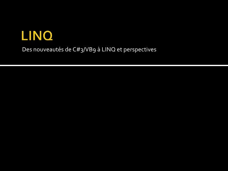 Vs2008 Linq