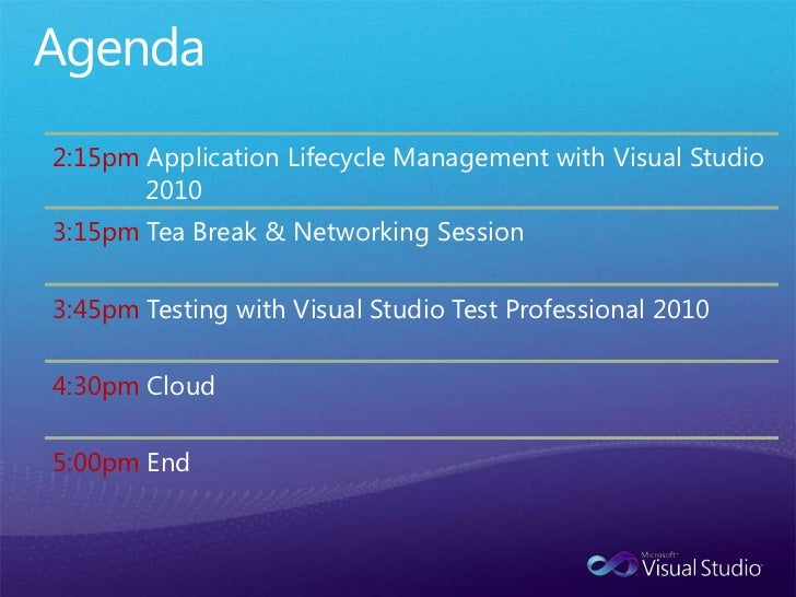 Vs2010 alm overview 22nd march
