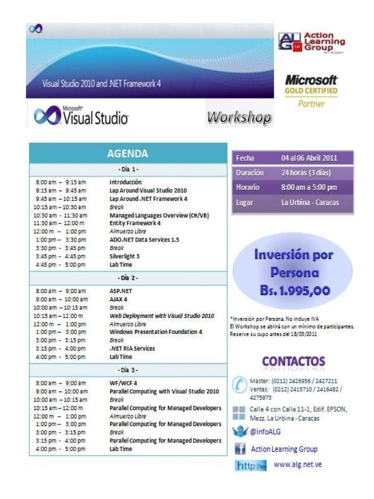MS Visual Studio 2010 y MS SQL 2008 R2
