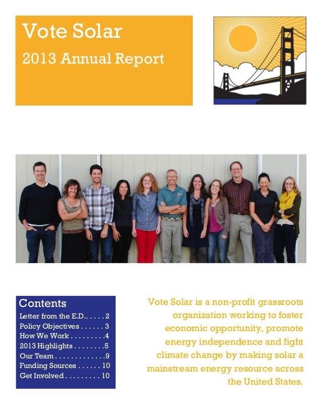 Vote Solar 2013 annual report