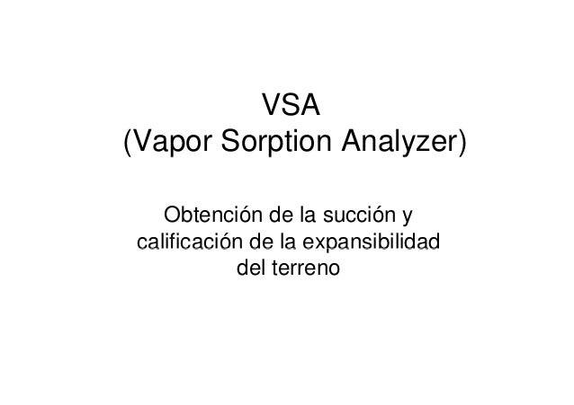 VSA Obtención de la succión y calificación de la expansibilidad del terreno
