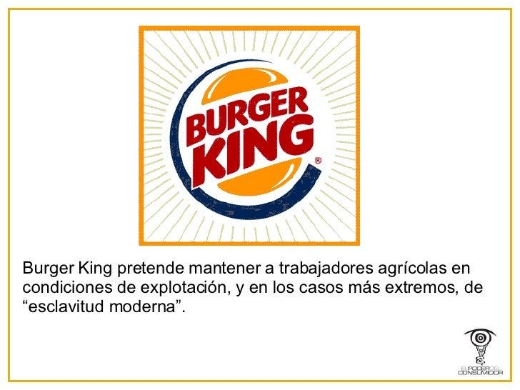 """Burger King pretende mantener a trabajadores agrícolas en condiciones de explotación, y en los casos más extremos, de """"esc..."""