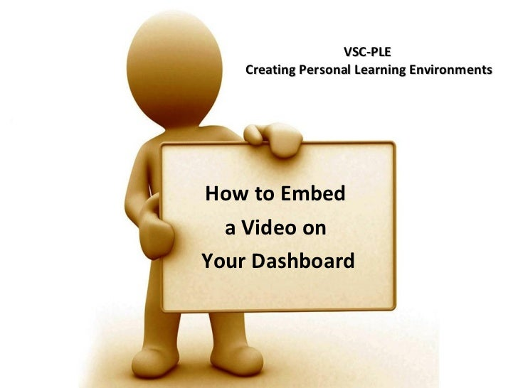 VSC-PLE  Creating Personal Learning Environments How to Embed  a Video on  Your Dashboard