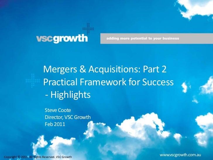 M&A Framework for Success - short