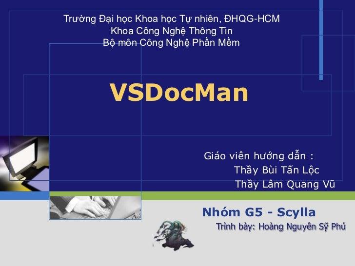 Trường Đại học Khoa học Tự nhiên, ĐHQG-HCM         Khoa Công Nghệ Thông Tin        Bộ môn Công Nghệ Phần Mềm        VSDocM...