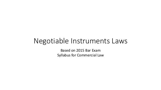 negotiable instruments law philippines Anti-money laundering act of 2001 securities or negotiable instruments – the anti-money laundering council is hereby created and shall be composed of.