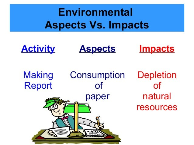 environmental aspects A procedure for determining how to discern significant environmental aspects at our region 7 facilities, along with a list of all aspects.