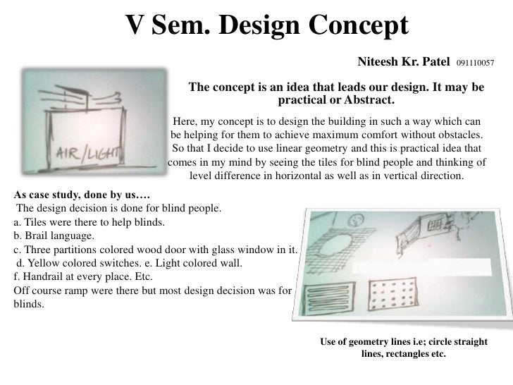 Architectural design concept for Architectural concept definition