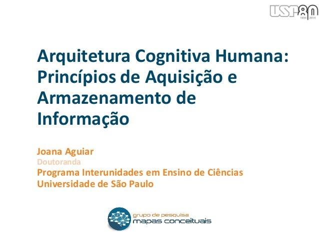 Joana Aguiar Doutoranda Programa Interunidades em Ensino de Ciências Universidade de São Paulo Arquitetura Cognitiva Human...