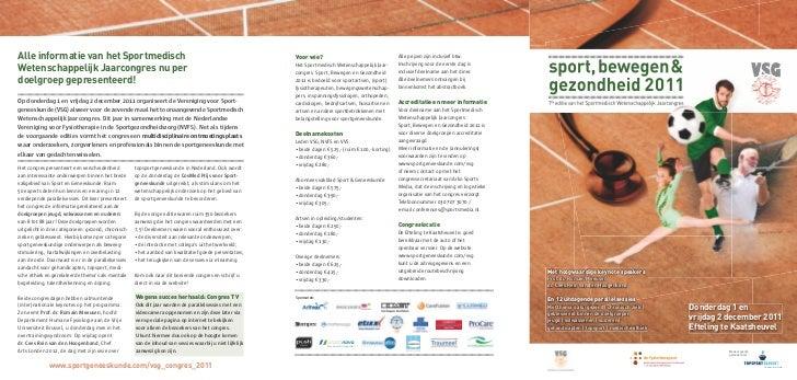 Alle informatie van het Sportmedisch                                                                      Voor wie?       ...