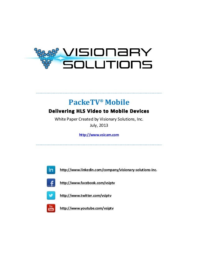 PackeTV® Mobile Whitepaper